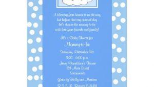 "Religious Baby Shower Invitations Christian Religious Baby Shower Invitation Blue 5"" X 7"