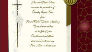 Religious Graduation Invitations Religious Graduation Announcements Item Dm54cross