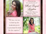 Religious Graduation Invitations Simply Sweet Graduation Announcement Pink Photo Woman
