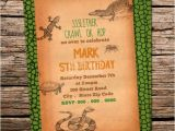 Reptile Birthday Party Invitations Printable Custom Printable Reptile Birthday Party Invitation Snake