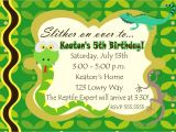 Reptile Birthday Party Invitations Printable Digital Reptile Snake Photo Birthday Party Invitation You