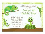 Reptile Party Invites Kids Reptile Birthday Party Invitation Zazzle Com