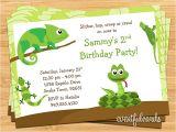 Reptile Party Invites Reptile Birthday Party Invitation