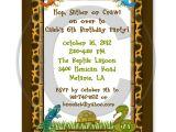 Reptile Party Invites Reptile Lizard Snake Birthday Party Invitations