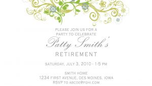 Retirement Party Invitation Template Idesign A Retirement Party Invitation