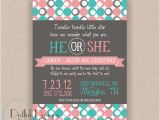 Revealing Party Invitations I Heart Pears Gender Reveal Invitations