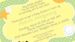 Rhyming Baby Shower Invitations Baby Shower Invite Rhymes