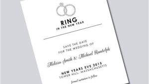 Ring In the New Year Wedding Invite New Years Eve Wedding Save the Dates Magnets by Kreativees
