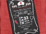 Rn Graduation Invitations Nurse Graduation Party Invitation Chalkboard Style 4×6 or 5×7