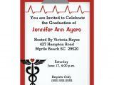 Rn Graduation Invitations Personalized Nursing School Graduation Invitations