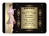 Roaring 20 S Party Invitations Art Deco Roaring 20 S Birthday Party 5×7 Paper Invitation