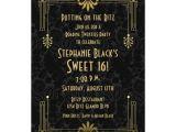 Roaring 20 S Party Invitations Sweet 16 Birthday Invitation Roaring 20s Art Deco