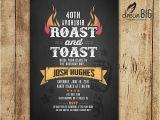 Roast and toast Birthday Invitation Roast and toast Birthday Invitation Adult 21st 30th 40th