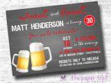 Roast and toast Birthday Invitation toast and Roast Birthday Party Invitation Beer Dirty 30