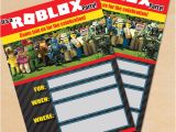 Roblox Birthday Invitation Template Free Printable Roblox Party Invitation