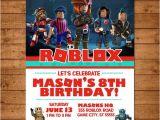 Roblox Birthday Invitation Template Roblox Birthday Invitation Chalkboard Roblox Invite Roblox