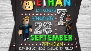 Roblox Birthday Invitation Template Roblox Birthday Invitation Roblox Chalkboard Invitation