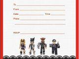 Roblox Birthday Invitation Template Roblox Birthday Party Invitations Invitation World