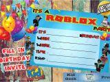 Roblox Birthday Invitation Template Roblox Birthday Party Unique Kids Invite Fun and Different