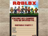 Roblox Birthday Invitation Template Roblox Fill In Birthday Invitations Quantity Of 25