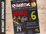 Roblox Birthday Invitation Template Roblox Invitation Personalized Roblox Invitation Instant