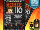 Roblox Birthday Invitation Template Roblox Invitation Roblox Invite Roblox Birthday Invitation