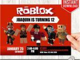Roblox Birthday Invitation Template Roblox Invitations Roblox Invitation Download Roblox