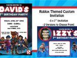Roblox Birthday Invitation Template Roblox themed Digital Birthday Invitation
