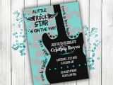 Rock and Roll Baby Shower Invitations Baby Shower Invitation Rock N Roll Baby Shower Boy Baby