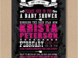 Rock and Roll Baby Shower Invitations Rock N Roll Baby Shower Invitation I Customize by