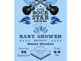Rock and Roll Baby Shower Invitations Rock Star Baby Shower Invitation