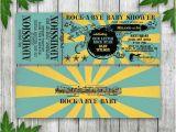 Rock N Roll Baby Shower Invitations Rock N Roll Baby Shower Ticket Invitation Printable
