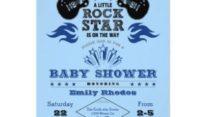Rock Star Baby Shower Invitations Rock Star Baby Shower Invitation
