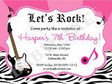Rock Star Birthday Invitation Templates 40th Birthday Ideas Free Rock Star Birthday Invitation