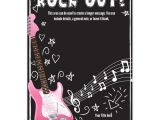 Rock Star Birthday Invitation Templates Rock Star Birthday Party Invitation Templates