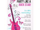 Rock Star Birthday Invitation Templates Rock Star Guitar Hero Birthday Party Invitations 5 Quot X 7