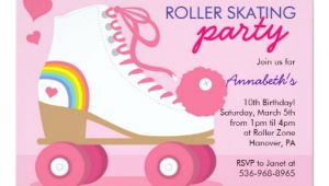 Roller Skating Birthday Party Invitation Template Roller Skating Birthday Party Invitations Zazzle