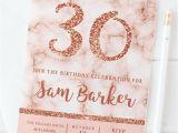 Rose Gold Birthday Invitation Template Free 10 Rose Gold Birthday Invitations 18th 21st 30th 40th