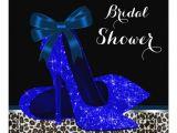 Royal Blue Bridal Shower Invitations Royal Blue Bridal Shower Invitation Zazzle