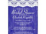Royal Blue Bridal Shower Invitations Royal Blue Country Lace Bridal Shower Invitations Zazzle