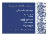 Royal Blue Bridal Shower Invitations Royal Blue Damask Bridal Shower Invitation Zazzle