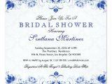 Royal Blue Bridal Shower Invitations Royal Blue White Damask Bridal Shower Invitation Zazzle