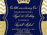Royal Party Invitation Template Prince Birthday Party Invitation Royal Blue Gold Birthday