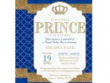 Royal Prince Baby Shower Invitations Little Prince Royal Blue Gold Baby Shower Invitations