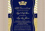 Royal Prince Baby Shower Invitations Prince Baby Shower Invitation Royal Blue Gold Baby Shower