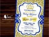 Royal Prince Baby Shower Invitations Royal Baby Shower Invitation Little Prince Baby Showerblue