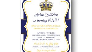 Royal Prince Birthday Invitation Template Free Royal Prince Birthday Invitation Printable Prince Birthday