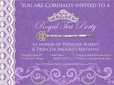 Royal Tea Party Invitation Template Princess Tea Party Birthday Invitations Best Party Ideas