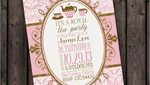 Royal Tea Party Invitation Wording Customized Wording Tea Party Invitation Royal Tea Party