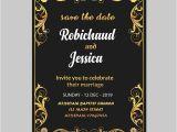 Royal Wedding Invitation Template Free Black Royal Wedding Invitation Card Template Psd Template